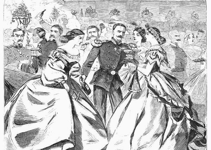 1863 Greeting Card featuring the photograph Russian Visit, 1863 by Granger