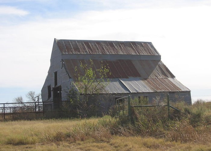 Greeting Card featuring the photograph Rusted Barn by Amy Hosp