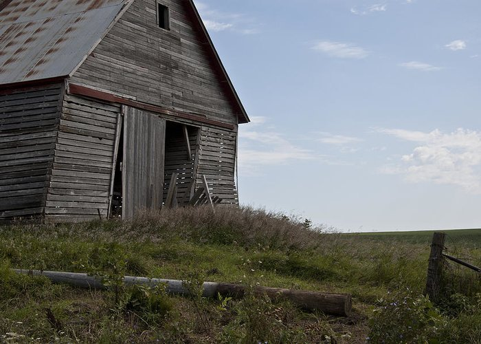 Barn Greeting Card featuring the photograph Rustic Barn Still Standing by Wilma Birdwell