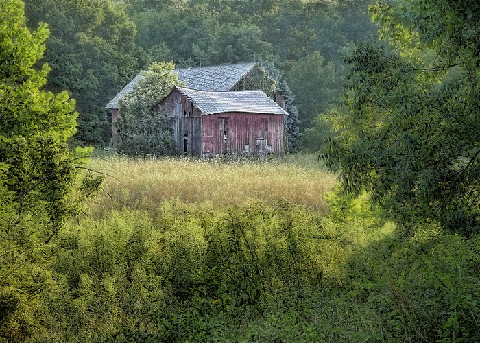 Architecture Greeting Card featuring the photograph Rustic Barn by Tom Mc Nemar