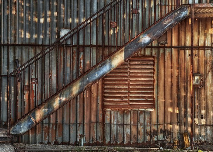 Stairs Greeting Card featuring the photograph Rusty Stairway by Brenda Bryant