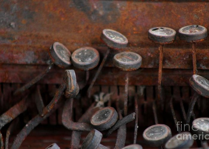 New Mexico Greeting Card featuring the photograph Rusty Typewriter by Ashley M Conger