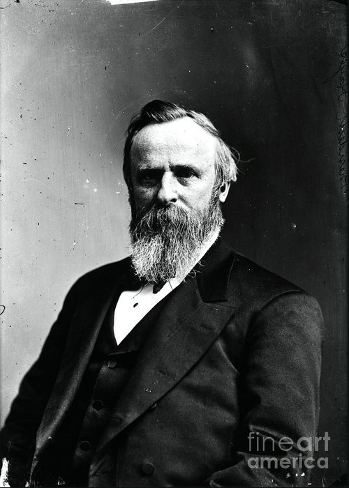 Government Greeting Card featuring the photograph Rutherford B. Hayes, 19th American by Photo Researchers