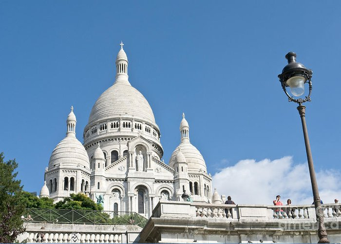 Sacre Greeting Card featuring the photograph Sacre Coeur V by Fabrizio Ruggeri