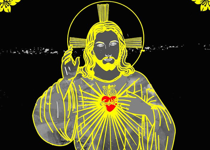 Al Bourassa Greeting Card featuring the photograph Sacred Heart by Al Bourassa