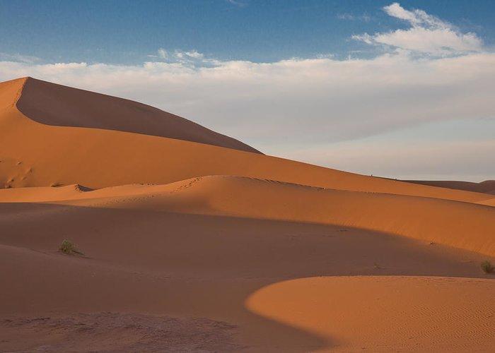 Sahara Greeting Card featuring the photograph Sahara Sanddunes by Leo Keijzer