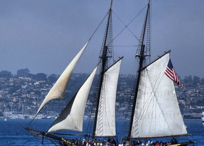Ship Greeting Card featuring the photograph Sail Away by Phil Huettner