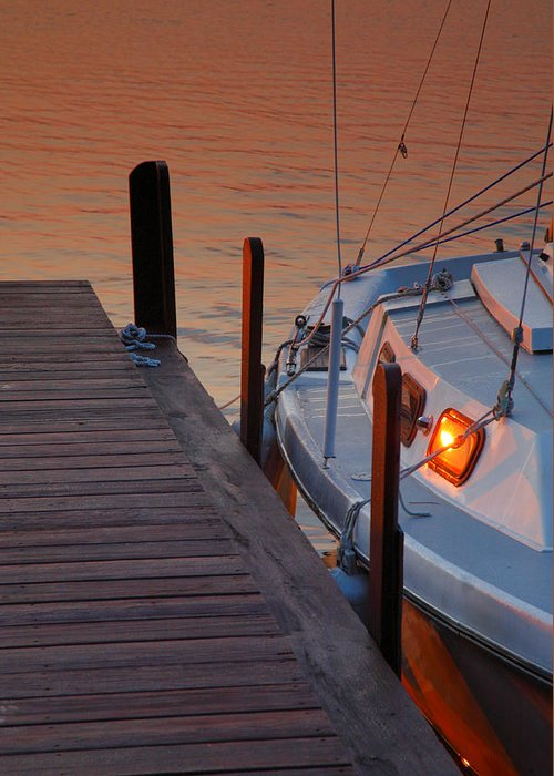 Dawn Greeting Card featuring the photograph Sailboat Sunrise by Steven Ainsworth