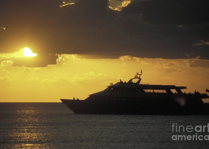Mexico Greeting Card featuring the photograph Sailing Into The Sun Cozumel Mexico by John Mitchell