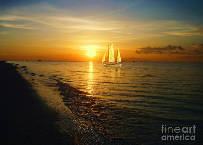 Sailing Greeting Card featuring the photograph Sailing by Jeff Breiman