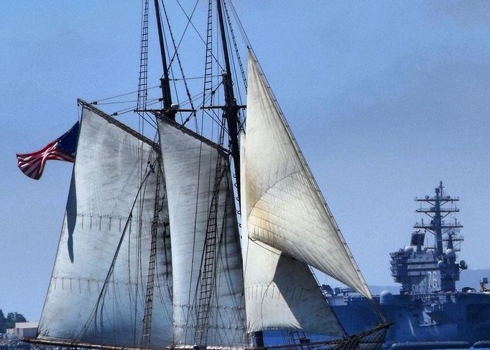 Ship Greeting Card featuring the photograph Sailing Ship by Phil Huettner