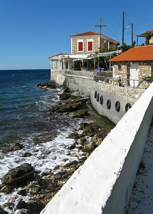 Architecture Greeting Card featuring the photograph Samos Greece by Ian Stevenson