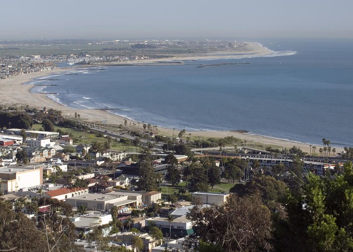 Elevated Views Greeting Card featuring the photograph San Buenaventura State Beach by Rich Reid