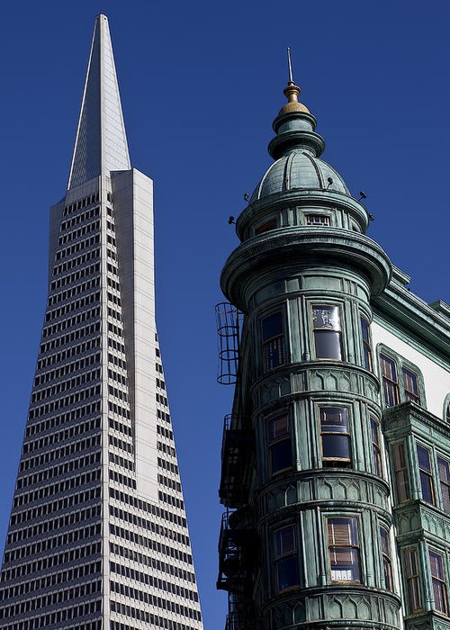 Sentinel Building Greeting Card featuring the photograph San Francisco Buildings by Garry Gay