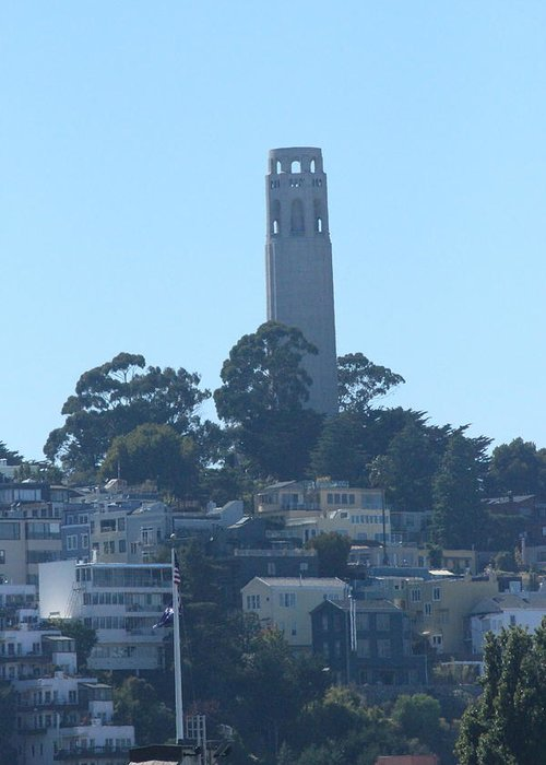 Coit Tower Greeting Card featuring the photograph San Francisco Collection # 27 by Raquel Amaral