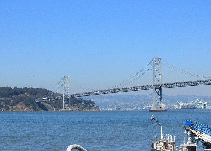 San Francisco Bay Bridge Greeting Card featuring the photograph San Francisco Collection # 29 by Raquel Amaral