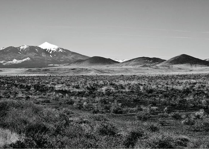 Landscape Greeting Card featuring the photograph San Francisco Peaks by Gilbert Artiaga