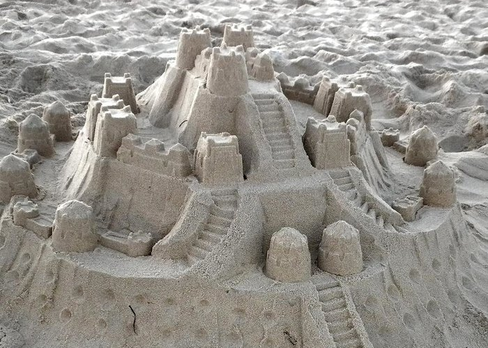 Sand Greeting Card featuring the photograph Sand Castle by Paulette Thomas