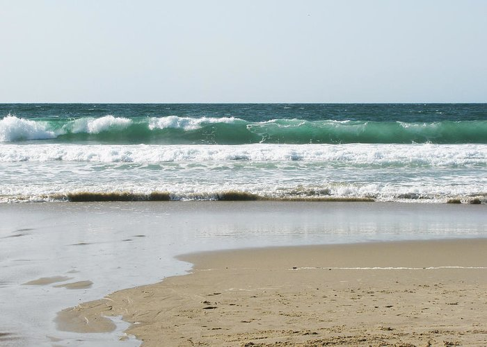 California Greeting Card featuring the photograph Sand City Rolling Waves by Kathleen Grace