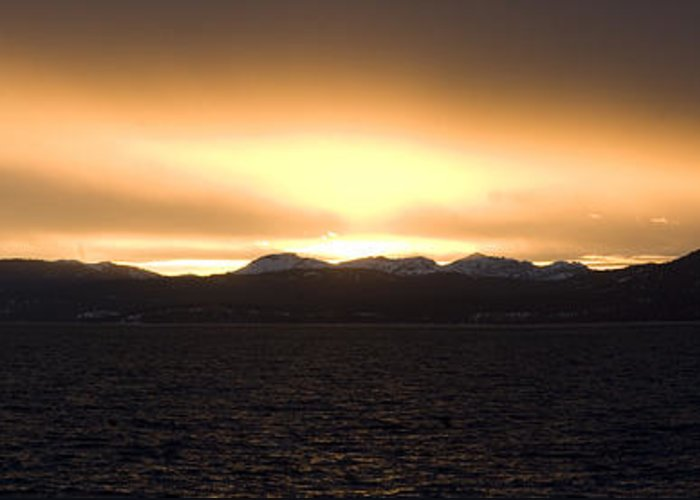 Greeting Card featuring the photograph Sand Harbor Sunset by Adam Blankenship