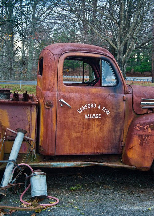 Sanford Greeting Card featuring the photograph Sanford And Son Salvage 2 by Douglas Barnett