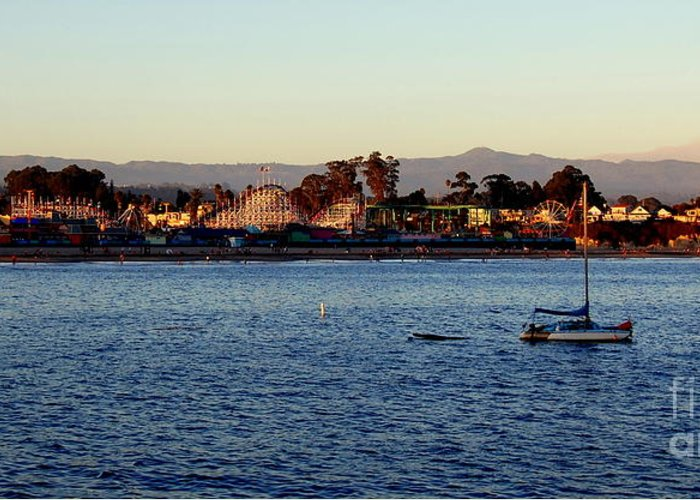 Santa Cruz Greeting Card featuring the photograph Santa Cruz Boardwalk by Garnett Jaeger