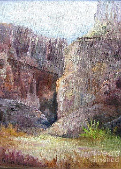Santa Elena Canyon Greeting Card featuring the painting Santa Elena Canyon Big Bend by Barbara Haviland