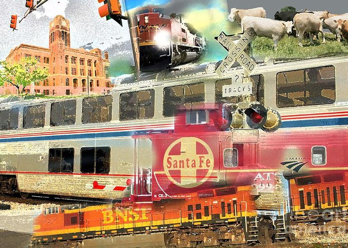 Greeting Card featuring the photograph Santa Fe by David Carter