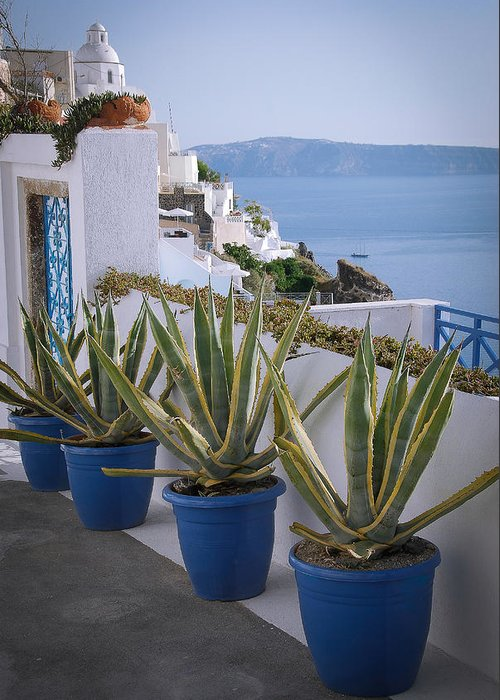Greece Greeting Card featuring the photograph Santorini Entrance by Scott Massey