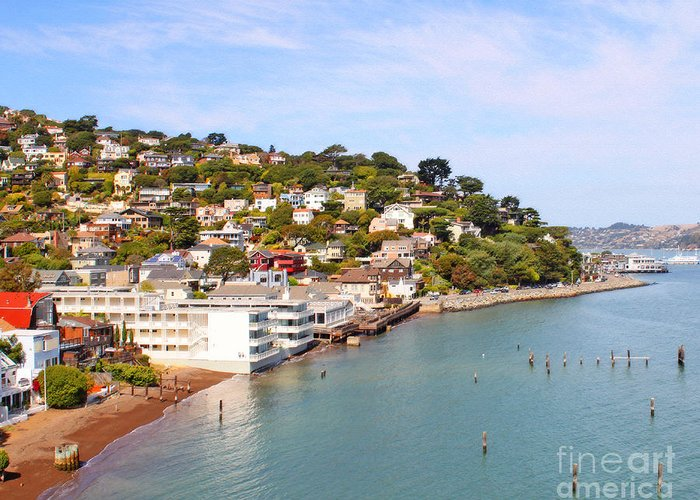 Sausalito Greeting Card featuring the photograph Sausalito California by Jack Schultz