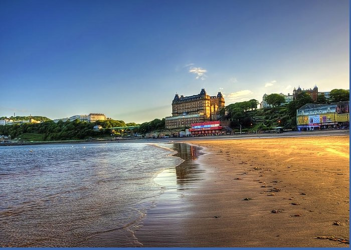 Scarborough Greeting Card featuring the photograph Scarborough Eve by Svetlana Sewell