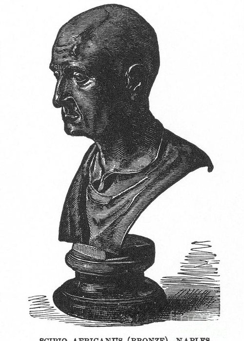 2nd Century B.c Greeting Card featuring the photograph Scipio Africanus by Granger