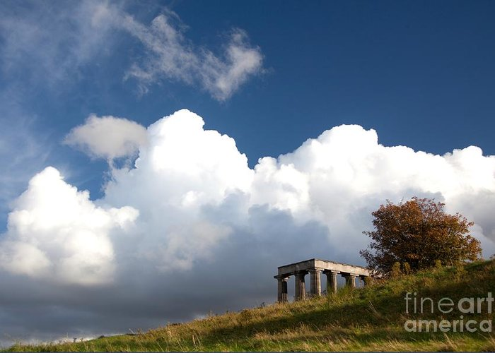 Edinburgh Greeting Card featuring the photograph Scottish National Monument On Calton Hill by Steven Gray