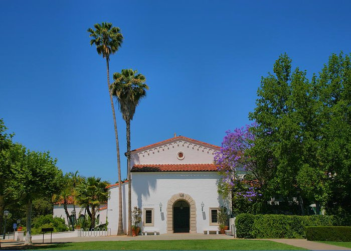 Building Greeting Card featuring the photograph Scripps College Grounds by Steven Ainsworth