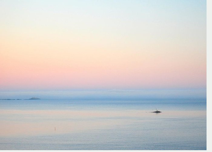 Sea Greeting Card featuring the photograph Sea Fog by Sonya Kanelstrand
