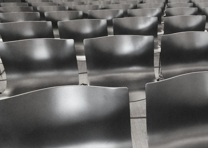 Chairs Greeting Card featuring the photograph Sea Of Seats I by Anna Villarreal Garbis