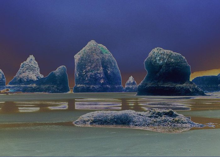 Water Greeting Card featuring the photograph Sea Stacks On The Oregon Coast by One Rude Dawg Orcutt