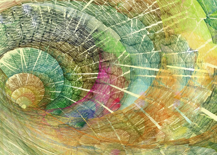 Ocean Greeting Card featuring the digital art Season Of The Shell by Betsy Knapp