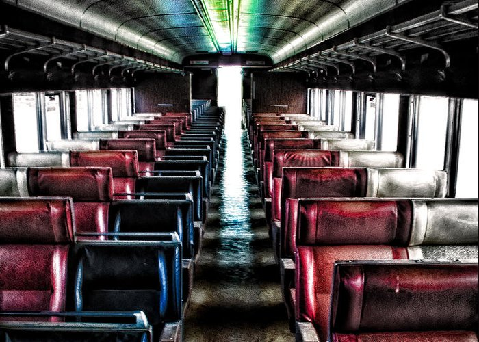 Trains Greeting Card featuring the photograph Seats Available by Charles Fletcher