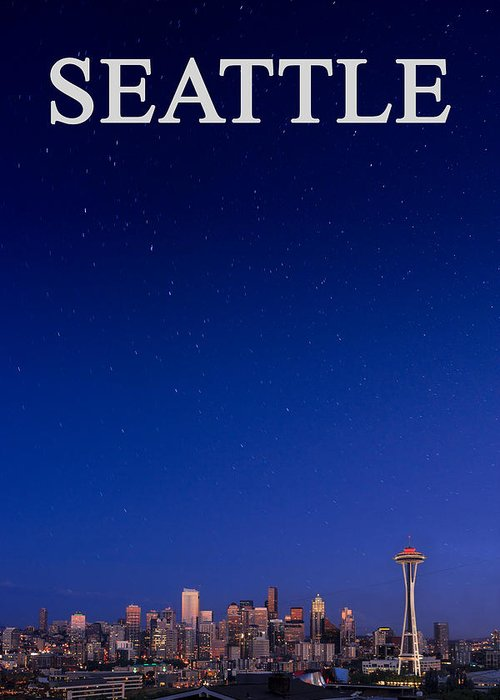 Seattle Greeting Card featuring the photograph Seattle Skyline 2 by Mike Penney