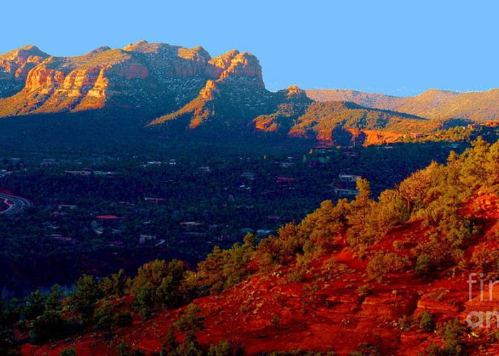 Sedona Greeting Card featuring the photograph Sedona Vii by Christine S Zipps