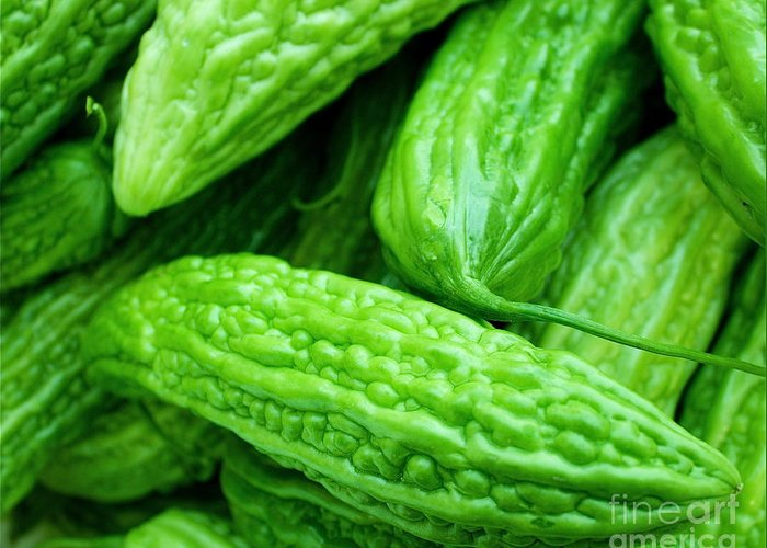 Vegetables Greeting Card featuring the photograph Seeing Green by Lisa Billingsley