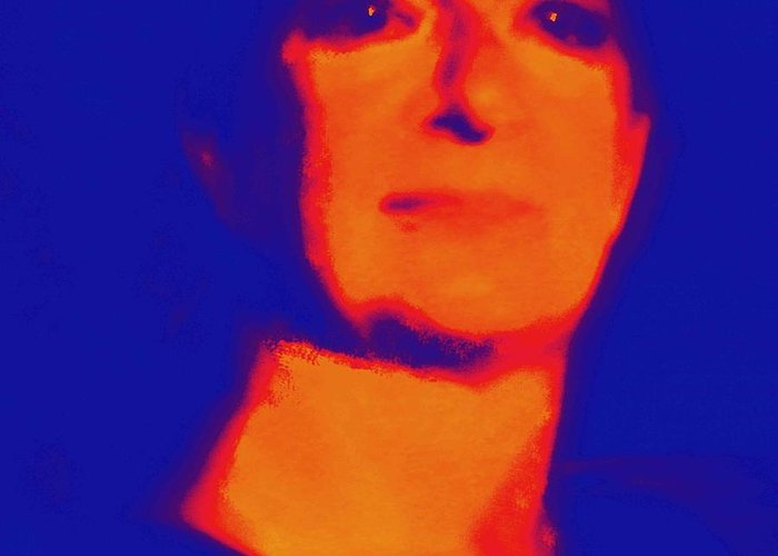 Carolina Liechtenstein Greeting Card featuring the photograph Self Portrait On Fire For The Future by Carolina Liechtenstein
