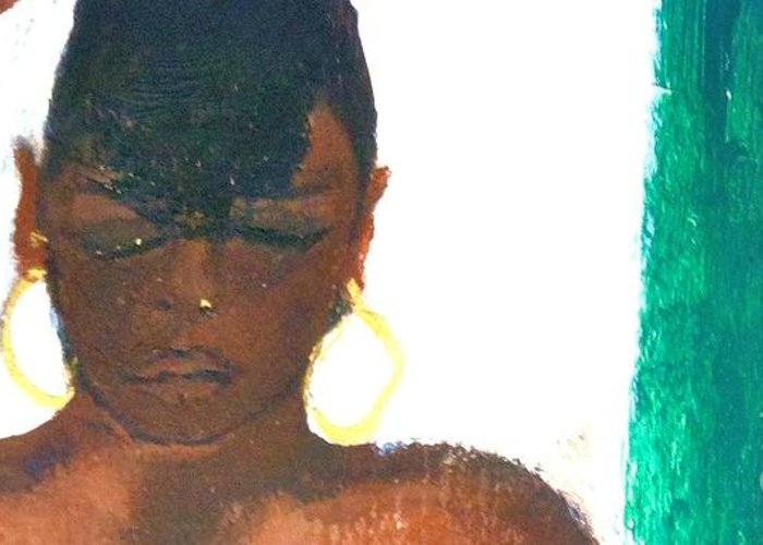 Impressionism Greeting Card featuring the painting Self Portrait by Sandra Richardson