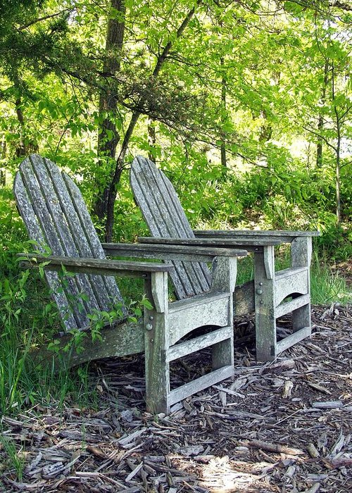 Lawn Chairs Greeting Card featuring the photograph Sentimental by Carol Sweetwood
