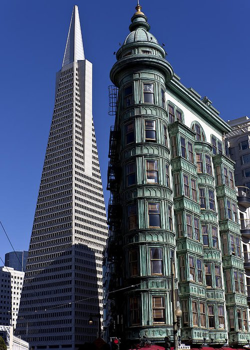 Sentinel Building Greeting Card featuring the photograph Sentinel Building San Francisco by Garry Gay