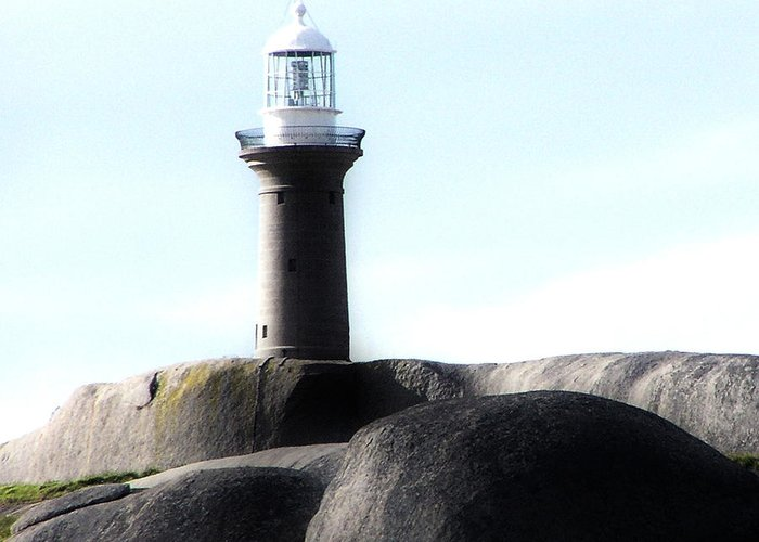 Lighthouse Greeting Card featuring the photograph Sentinel by Joanne Kocwin