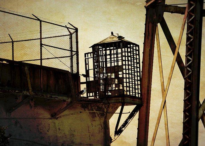Alcatraz Greeting Card featuring the photograph Sentry Box In Alcatraz by RicardMN Photography
