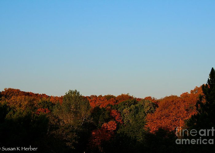 Outdoors Greeting Card featuring the photograph September Morning by Susan Herber