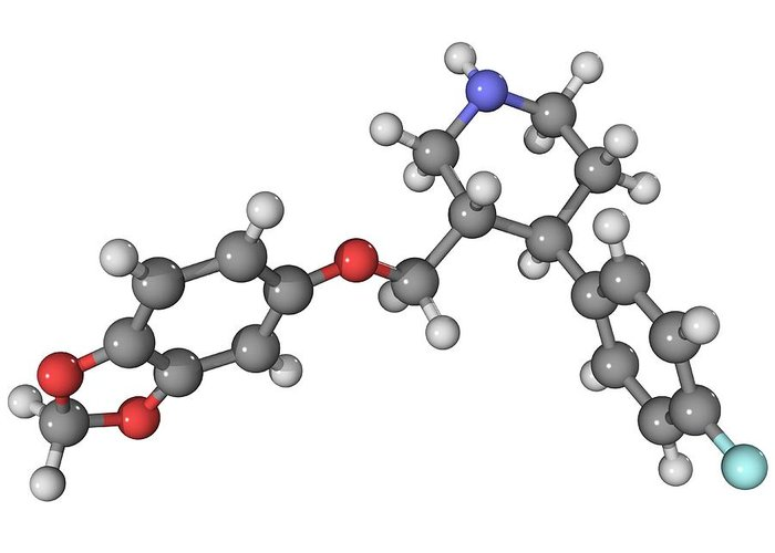Molecular Greeting Card featuring the photograph Seroxat Antidepressant Drug Molecule by Laguna Design